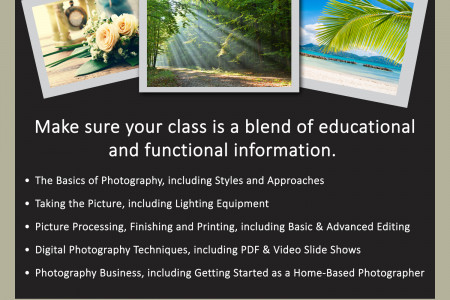 What to Look For in an Online Photography Class Infographic