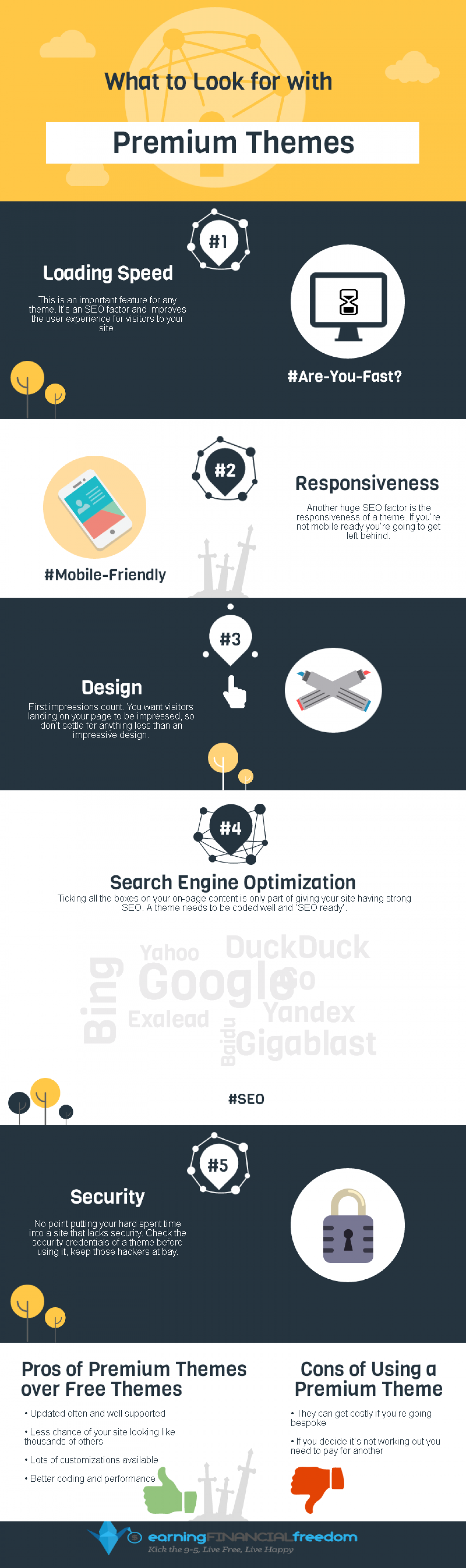 What to Look for When Buying a Premium Theme Infographic