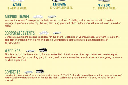 What Type Of Transportation Do I Need For My Event? Infographic