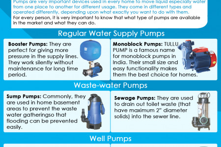 What Types of Pumps Can be Used in Home Infographic