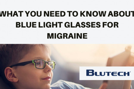 What You Need to Know About Blue Light Glasses for Migraine Infographic