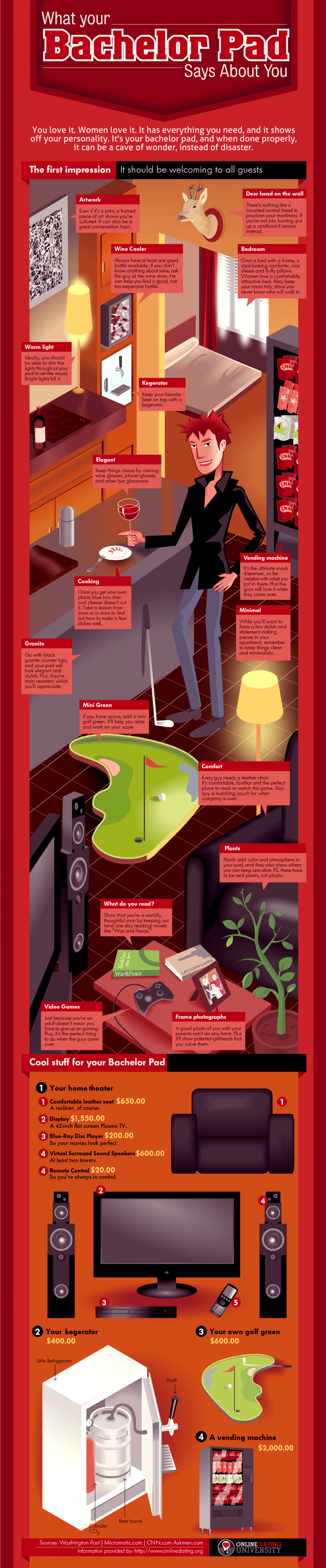 What Your Bachelor Pad Says About You Infographic