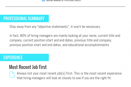 What Your Resume Should Look Like in 2016 Infographic