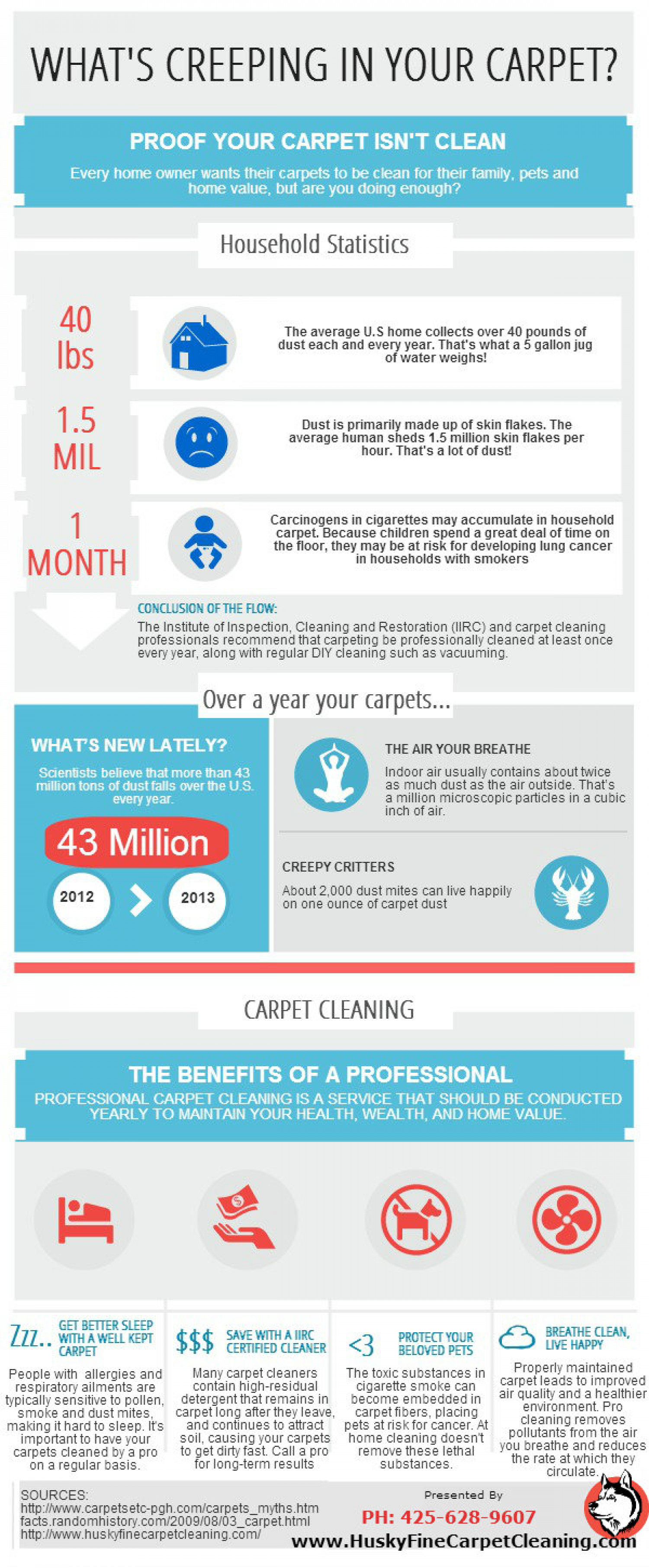 What's Creepy In Your Carpet? A Carpet Cleaning Guide Infographic