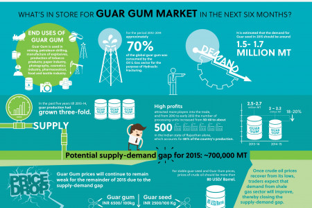What's in store for GUAR GUM Market in the next six months? Infographic