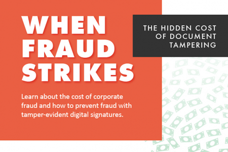 When Fraud Strikes: The Hidden Cost of Document Tampering Infographic