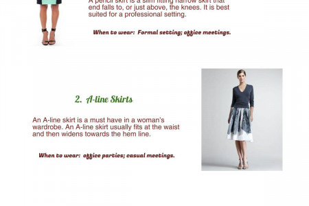 When to Wear A Skirt Infographic
