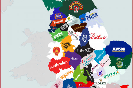 Where England's Companies Started Infographic