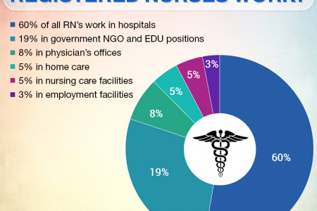 Where Registered Nurses Work - Infographic Infographic