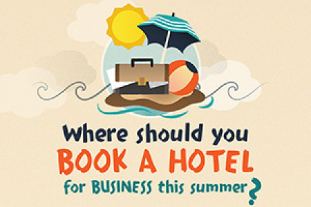 Where should you book a hotel for business this summer? Infographic