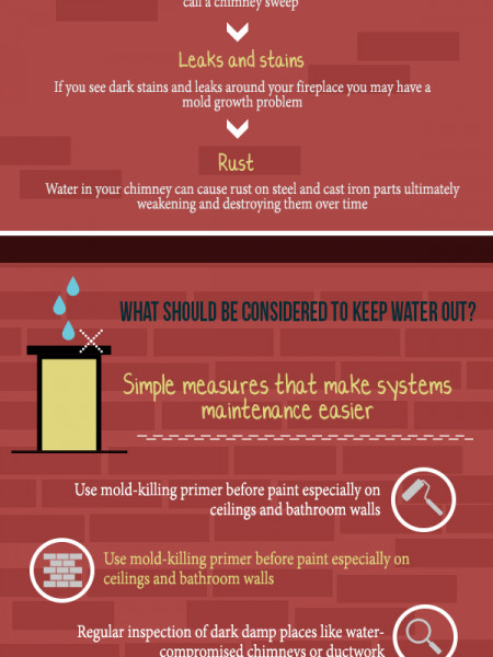 Where There is Water in Chimney, There is Mold Infographic