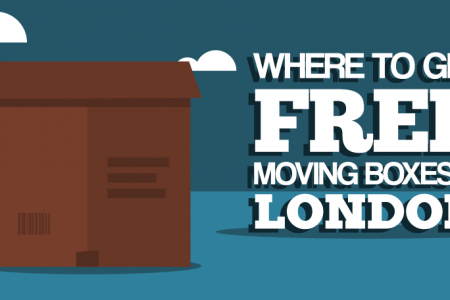 Where to Find Free Moving Boxes in London Infographic