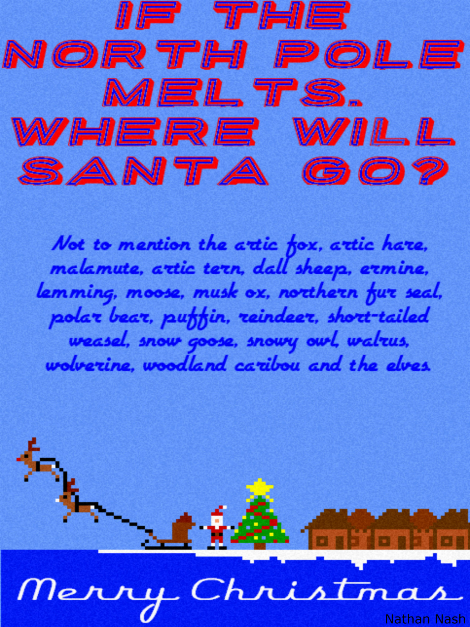 where will Santa go? Infographic