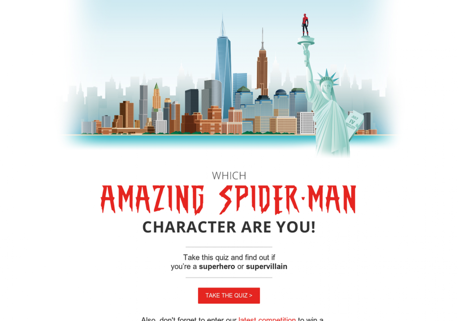 Which Amazing Spider-Man character are you? Infographic