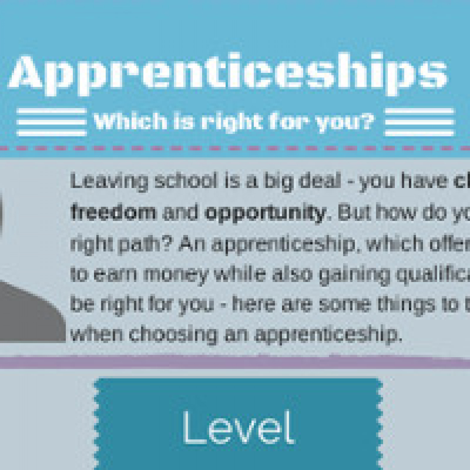 Apprenticeship Which is Right For You? Infographic