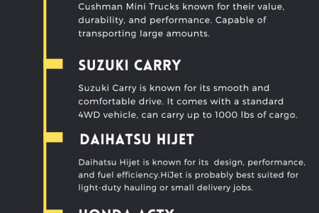 Which are the top 5 mini trucks in the USA? Infographic