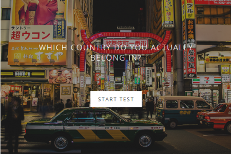 Which Country Do You Actually Belong in Interactive Quiz Infographic