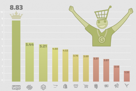 Which eCommerce Cart Ranks Highest on Google? Infographic