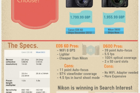 Which Full Frame DSLR Should You Choose Infographic