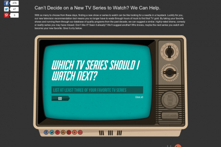 Which TV Series Should I Watch Next? Infographic