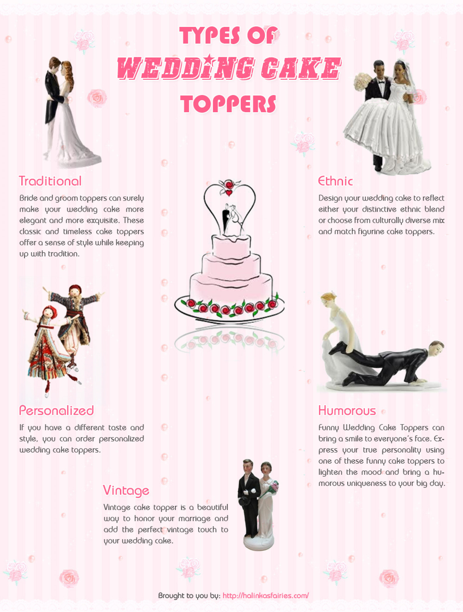 Which wedding cake topper will you choose ? Infographic
