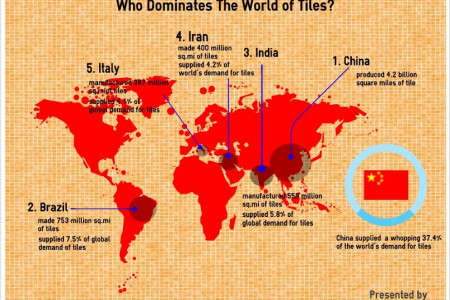 Who Dominates The World of Ceramic Tiles? Infographic