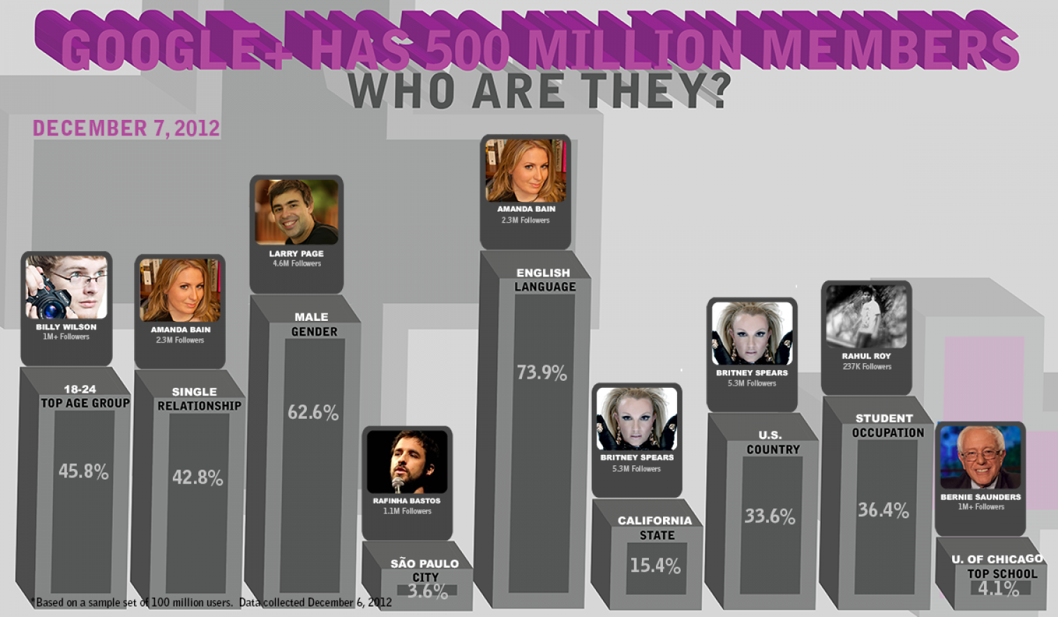 Who Is Using Google+ Infographic