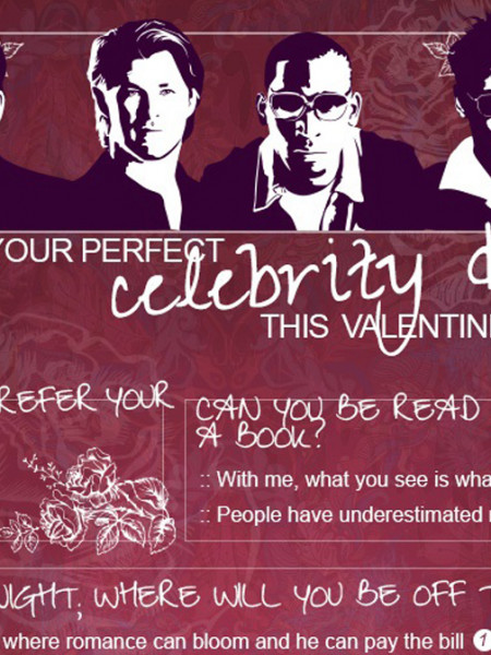 Who's your Celebrity Match this Valentine's Day? Infographic
