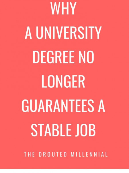 Why A University Degree No Longer Guarantees A Stable Job Infographic