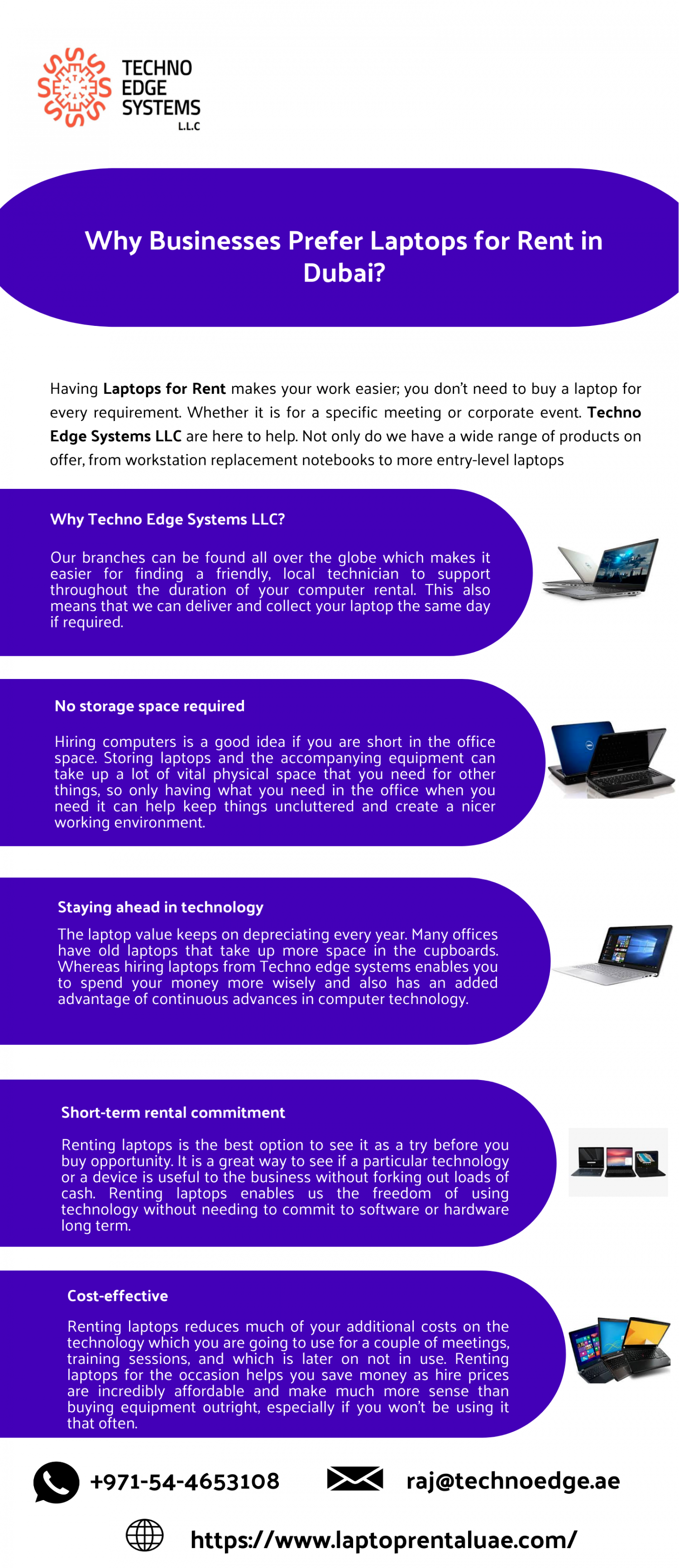 Why Businesses Prefer Laptops for Rent in Dubai? Infographic