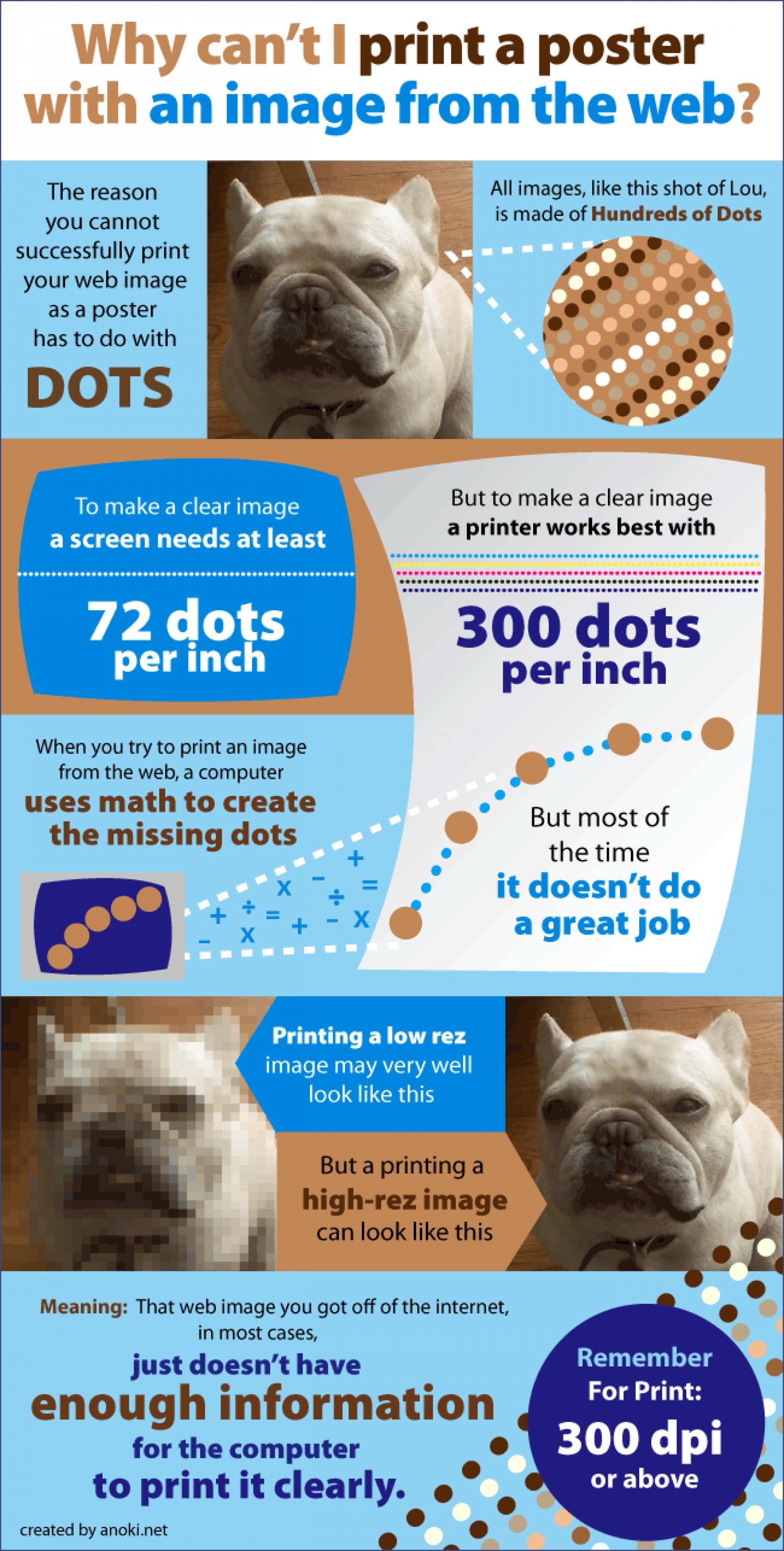 Why Can't I Print A Poster With An Image From The Web? Infographic