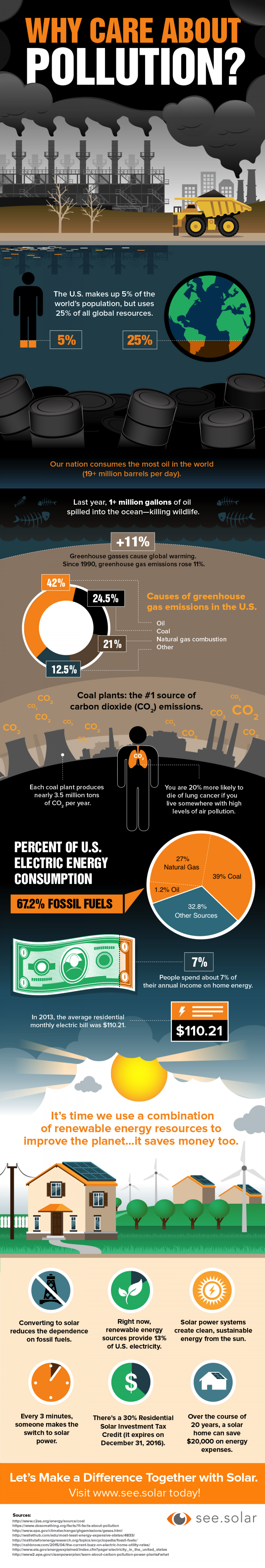 Why Care About Pollution?  Infographic