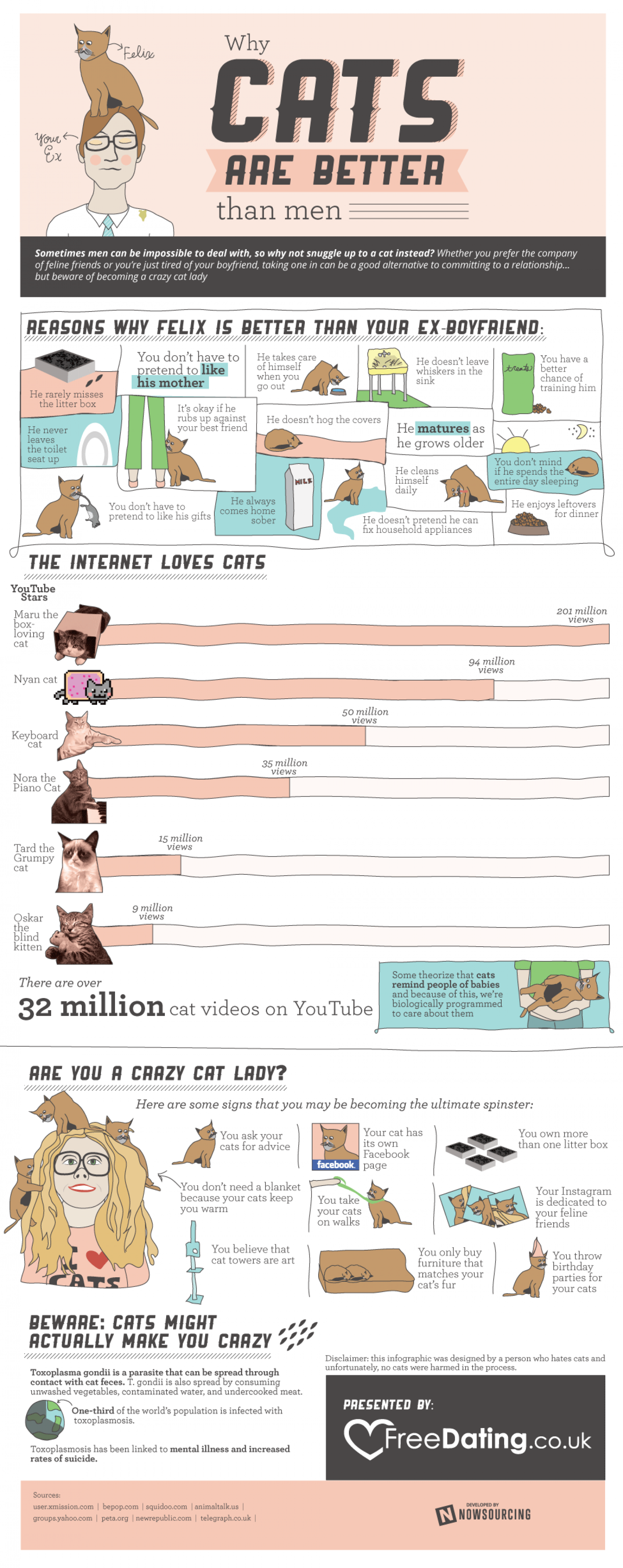 Why Cats are Better than Men Infographic