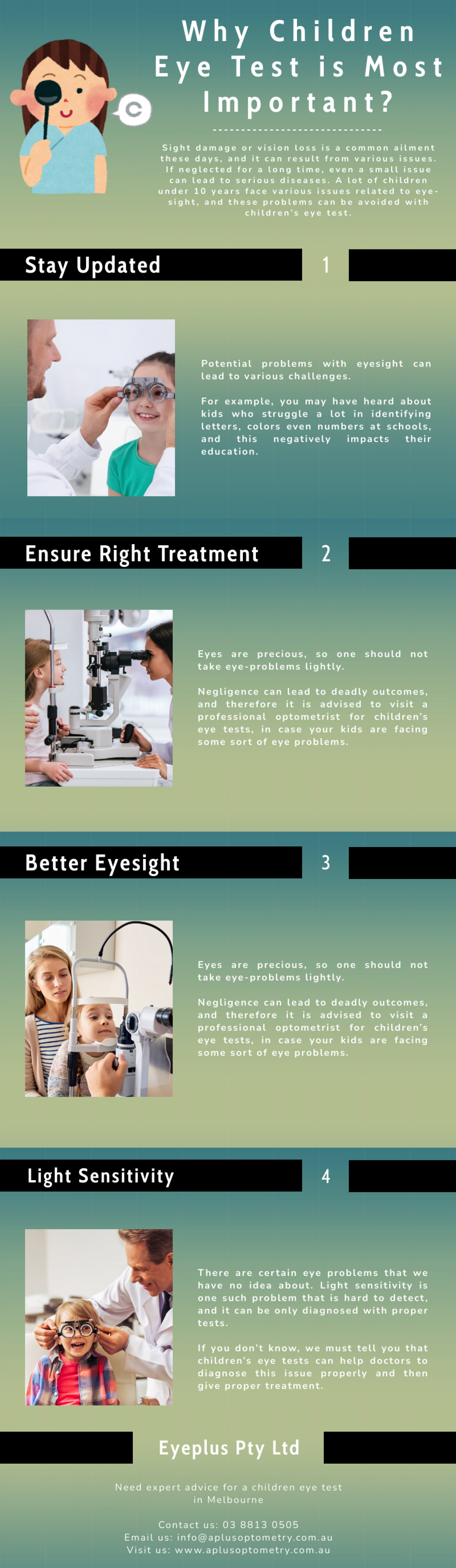 Why Children Eye Test is Most Important? Infographic