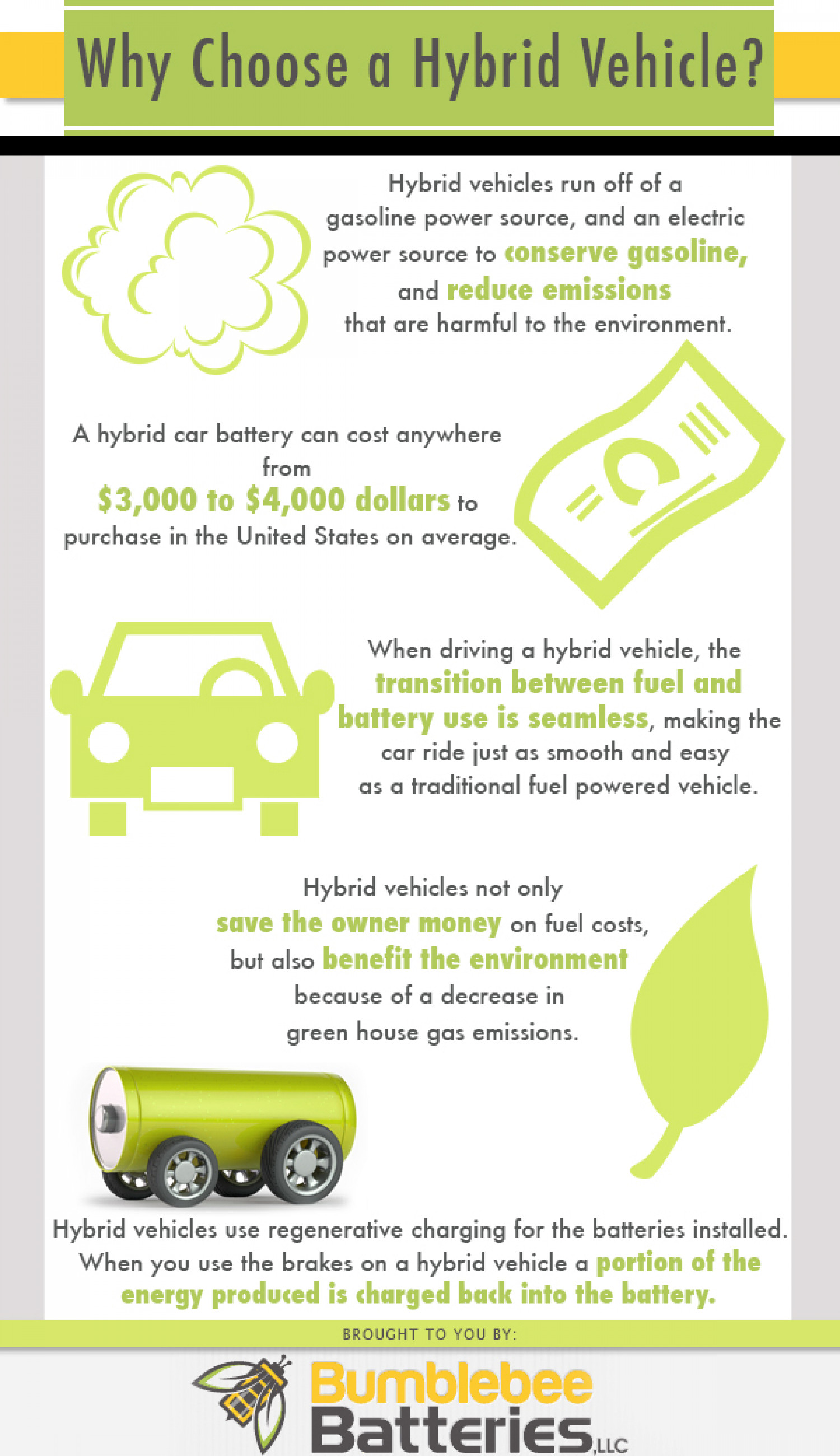 Why Choose A Hybrid Vehicle? Infographic