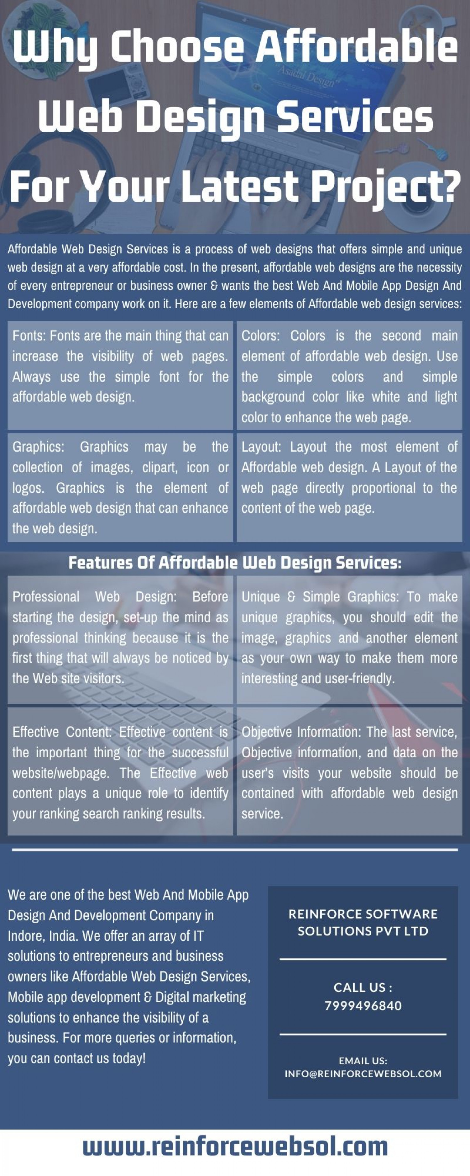 Why Choose Affordable Web Design Services For Your Latest Project Infographic