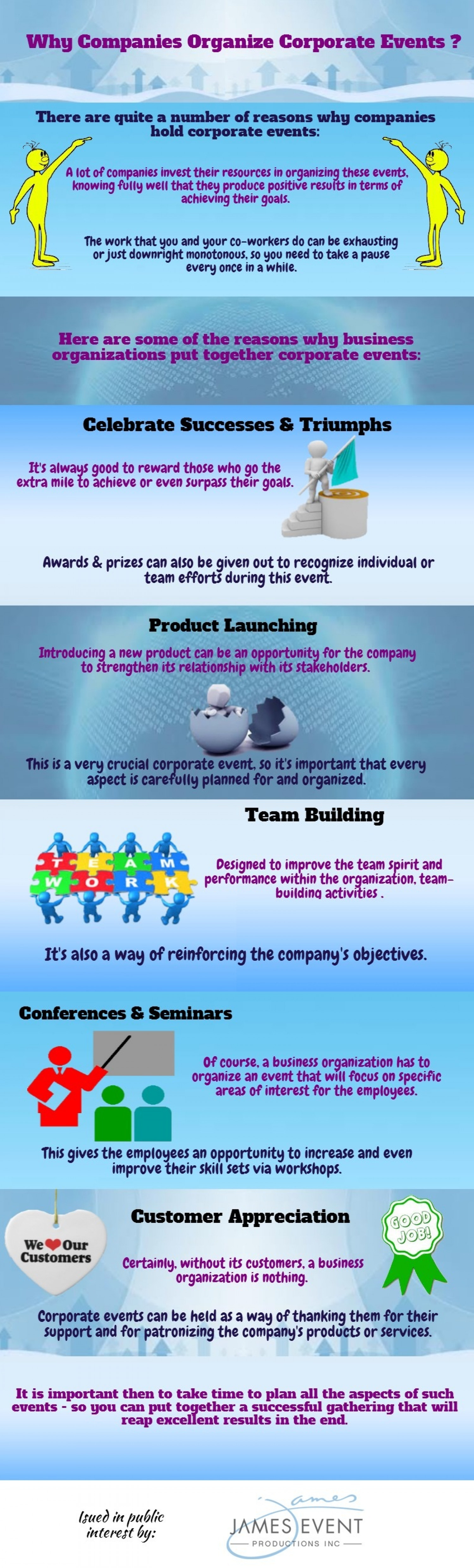 Why Companies Organize Corporate Events Infographic