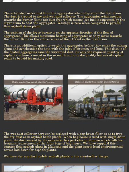 Why Counter Flow Asphalt Plant? Infographic