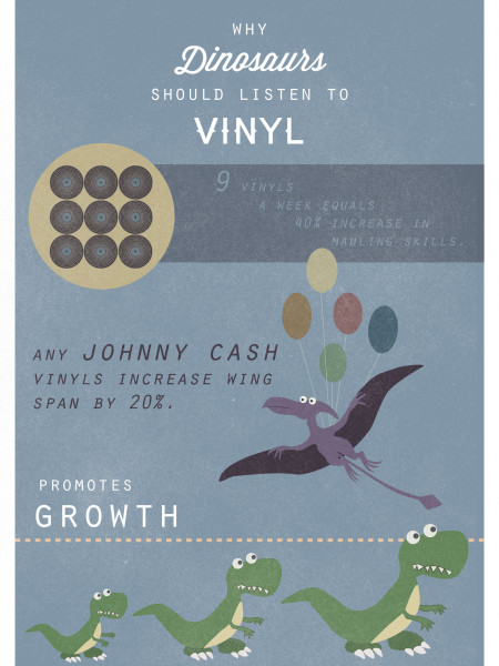 Why Dinosaurs Should Listen to Vinyl Infographic