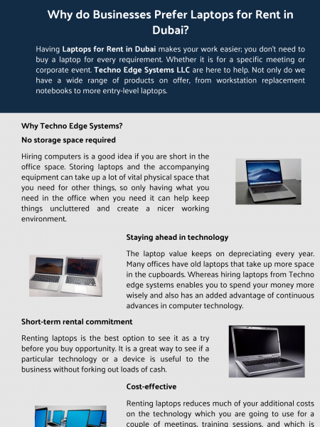 Why do Businesses Prefer Laptops for Rent in Dubai? Infographic