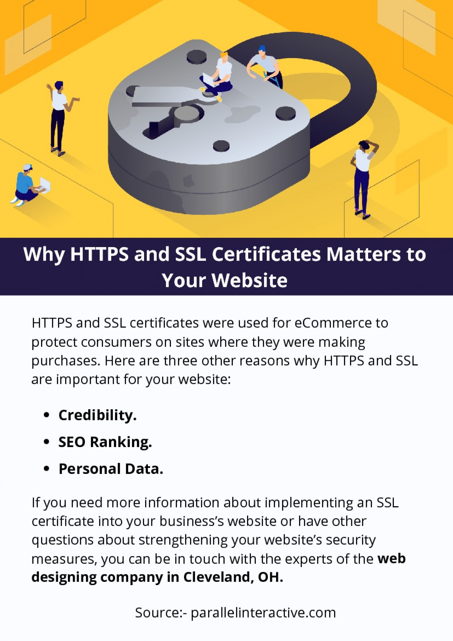 Why HTTPS and SSL Certificates Matters to Your Website Infographic