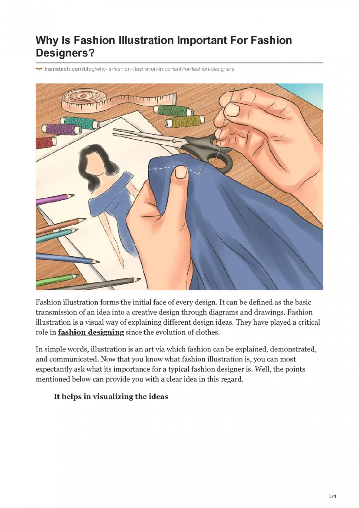 WHY IS FASHION ILLUSTRATION IMPORTANT FOR FASHION DESIGNERS? Infographic
