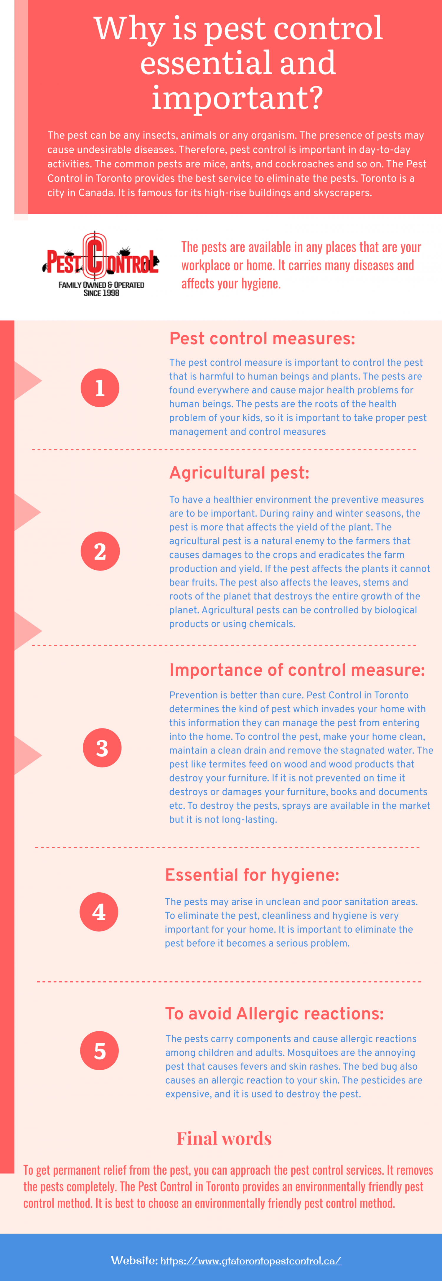 Why is pest control essential and important? Infographic