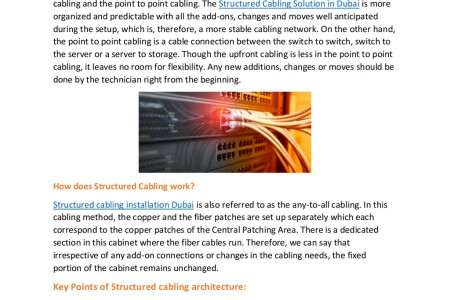Why is Structured Cabling a Preferred Network Architecture Infographic