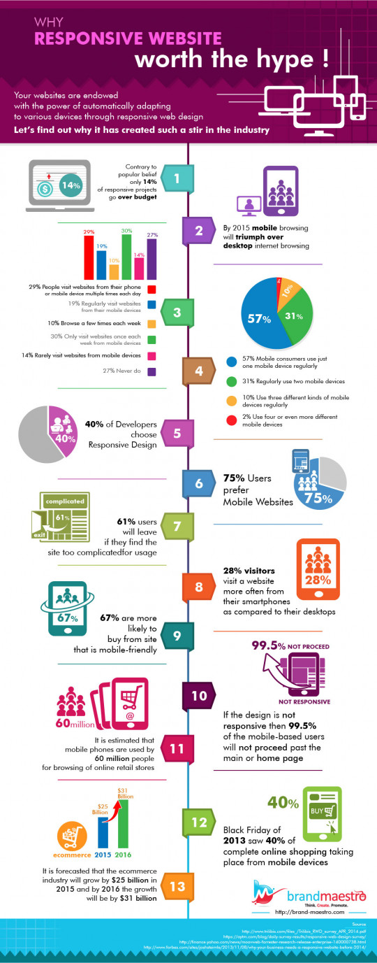 Why Responsive Website worth the hype! - Stats Infographic