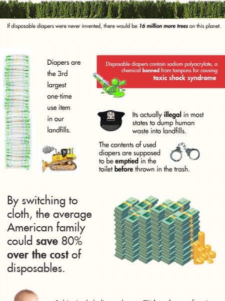 Why Should You Switch to Cloth Diapers? Infographic