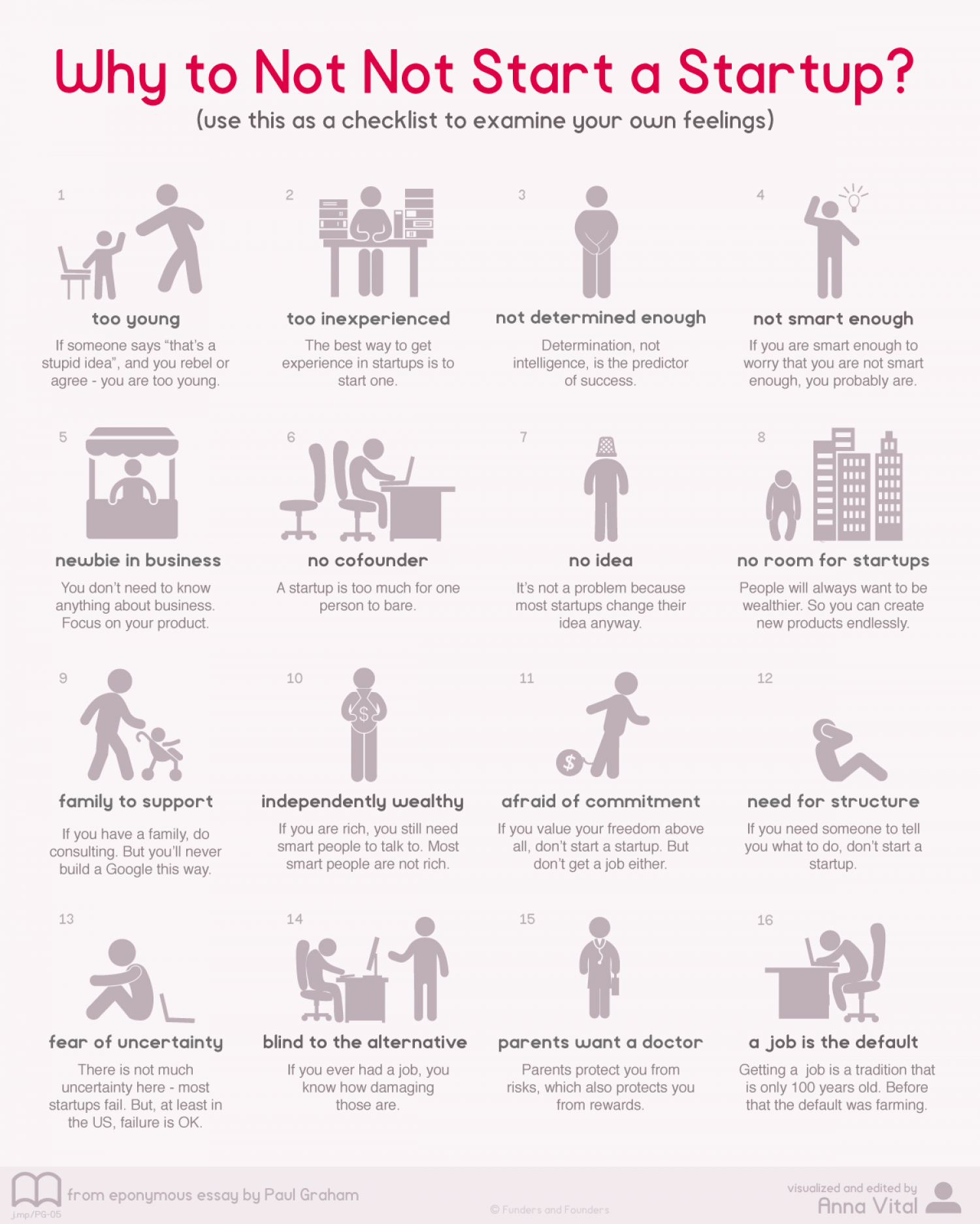 Why to Not Not Start a Startup Infographic