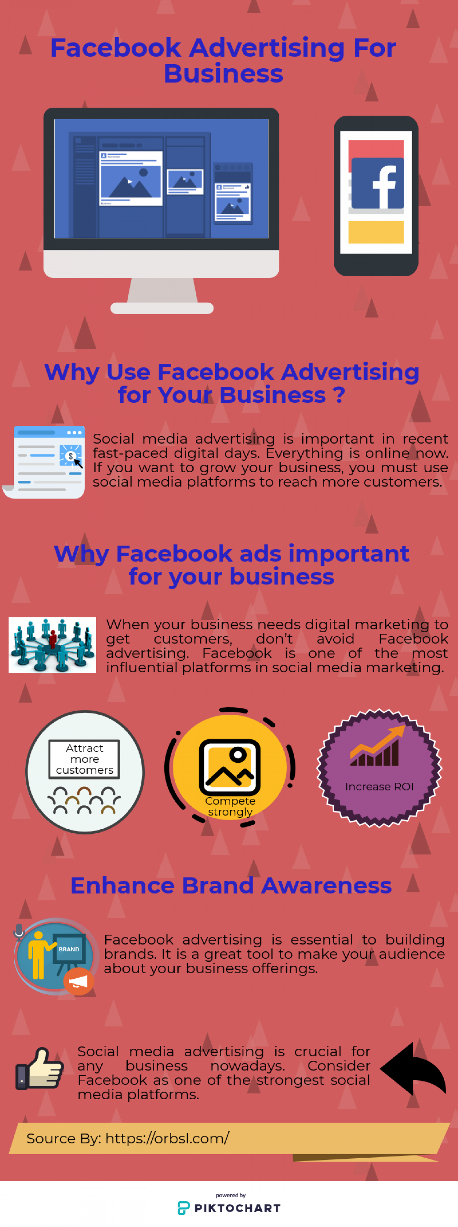 Why use Facebook Advertisement for your Business? Infographic