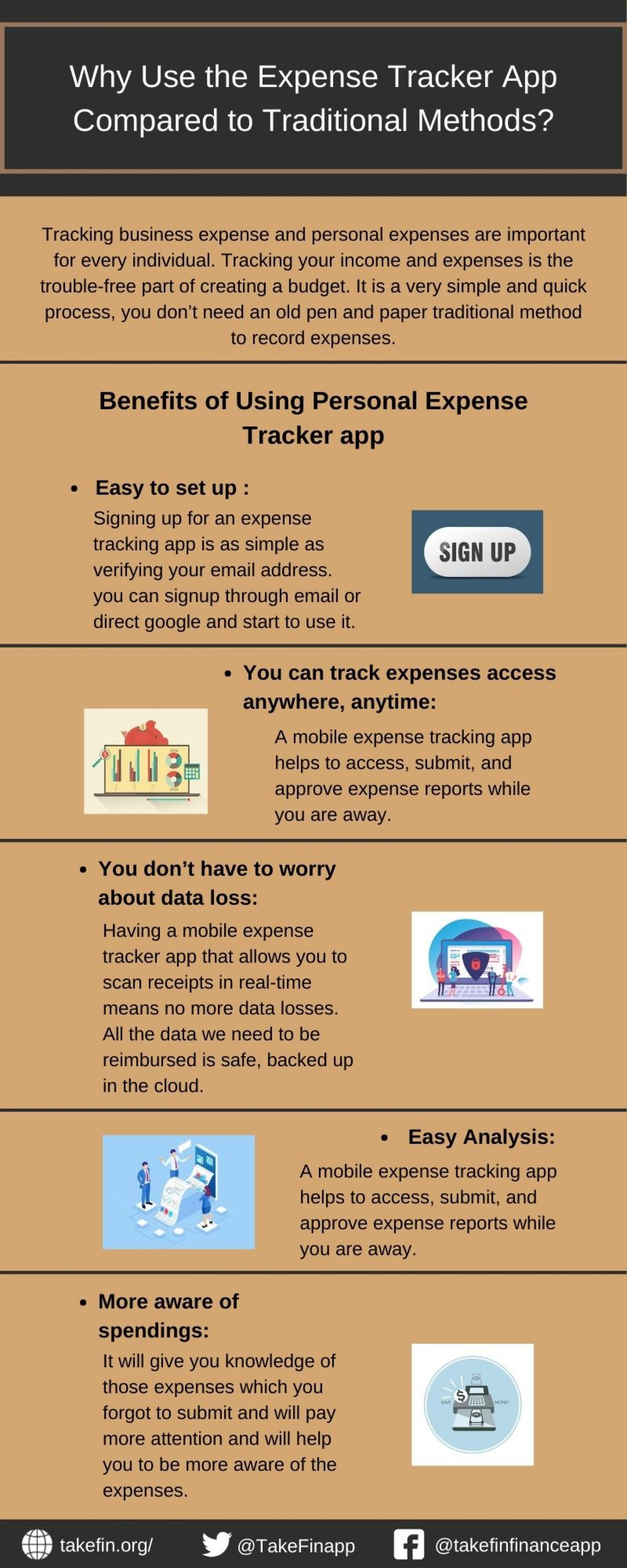 Why Use the Expense Tracker App Compared to Traditional Methods? Infographic