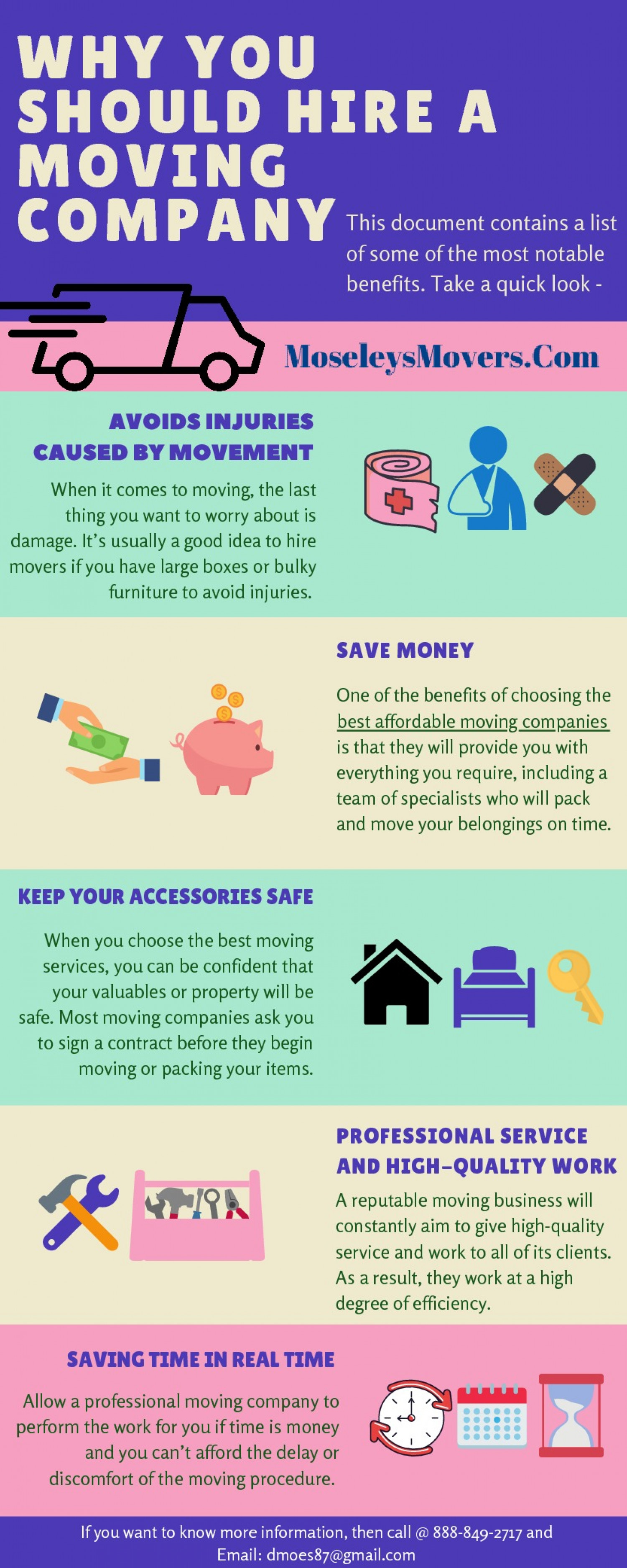 Why You Should Hire a Moving Company Infographic